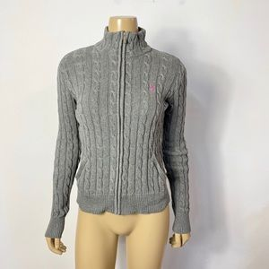 Ralph Lauren sport cotton cable knit full zip up